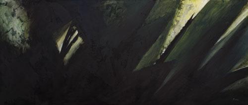 Cromatismo n. 6, 2007, acrilico su faesite, cm 100x42