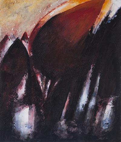 Cromatismo n. 11, 2016, acrilico e tecniche miste su tavola, cm 42x51