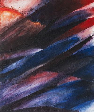 Cromatismo n. 12, 2016, acrilico e tecniche miste su tavola, cm 42x51