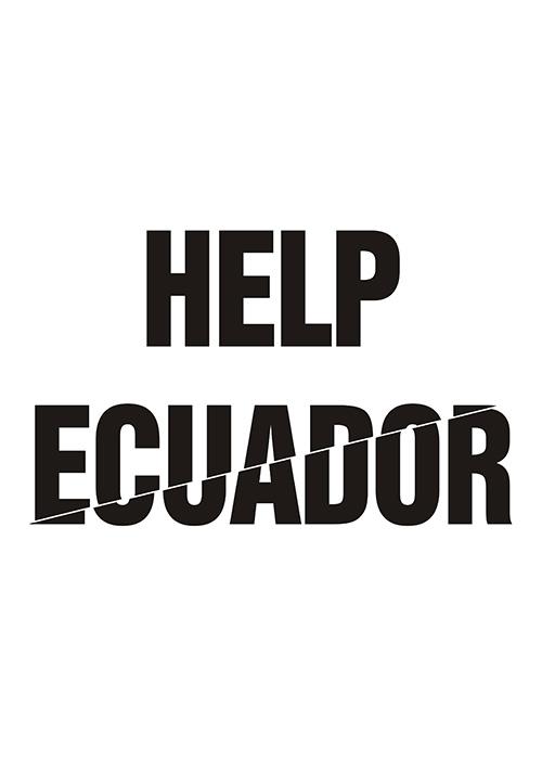 Diseñadores con corazón - carteles por Ecuador