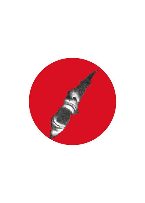 """Aiuto, 2011, disegno e computer grafica, cm 50x70 Poster selezionato tra i finalisti del concorso internazionale """"Project Sunshine for Japan"""""""