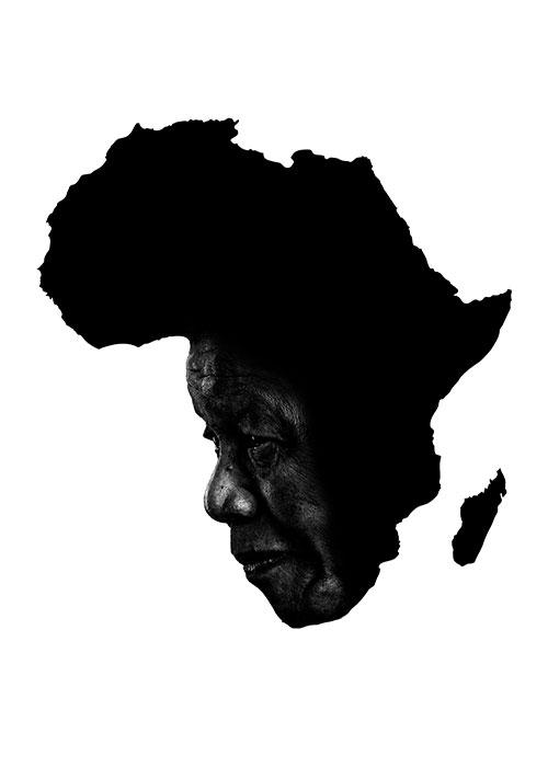 """""""Mandela"""", 2014, computer grafica, cm 50x70 Concorso Internazionale - Nelson Mandela, the Liberty Pigeon Iran Artists Organization Poster selezionato tra i 30 vincitori"""