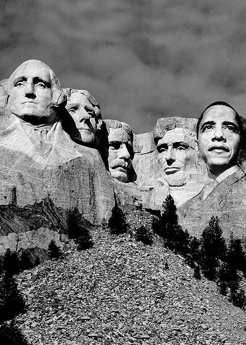 """Obama, 2012, computer grafica, cm 50x70 Il poster """"Obama"""" viene selezionato ed entra a far parte della collezione """"Design for Obama"""" nella comunità internazionale di creativi """"Creative Action Network"""";"""