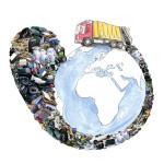 Rifiuti, foto e computer grafica, stampa digitale su forex, cm 50x70 Il problema della gestione dei rifiuti impone delle strategie globali al fine di tutelare la vita del pianeta e di chi vi è ospite.