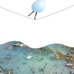 Salviamo l'acqua, foto e computer grafica, stampa digitale su forex, cm 50x70 Acqua come fonte principale di vita che viene messa in pericolo dal crescente inquinamento.
